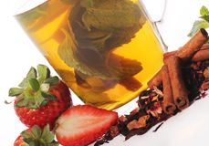 Fruit tea with strawberry Stock Photography