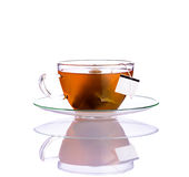 Fruit Tea with tea-bag on White Royalty Free Stock Photography