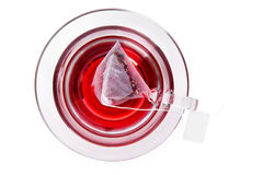 Fruit tea, top view. Royalty Free Stock Image