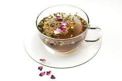 Fruit tea on white. Cup with fruit tea on white Stock Photo