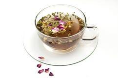 Fruit tea on white Stock Photo