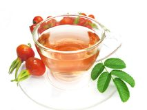 Fruit tea with wild rose hip extract Stock Photo