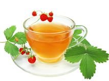 Fruit Tea With Wild Strawberry Royalty Free Stock Photo