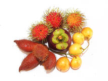Fruit in Thailand on background white Royalty Free Stock Photos