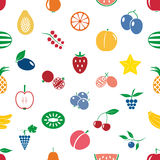 Fruit theme color simple icons seamless modern pattern eps10 Stock Image
