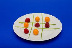 Fruit tic tac toe Stock Photography