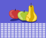 Fruit timetable Royalty Free Stock Image