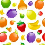 Fruit to background, seamless Royalty Free Stock Images