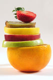 Fruit tower. Royalty Free Stock Image