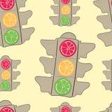Fruit traffic lights Stock Images