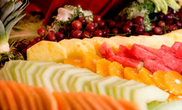 Fruit Tray. Assorted fruits on a tray Stock Photography