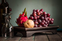 Fruit tray with of vintage Stock Photo