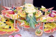 Fruit trays Royalty Free Stock Photos