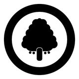 Fruit tree icon black color in circle. Vector illustration isolated Royalty Free Stock Photography