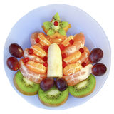 Fruit tree on a  plate on a white background Stock Images