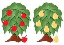 Fruit tree stylized Stock Photos