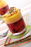 Fruit trifle Stock Image