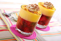 Fruit trifle Stock Photo