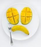 Fruit triste d'un plat Image libre de droits
