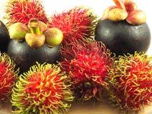 Fruit tropical Asie de mangoustan de ramboutan Images libres de droits