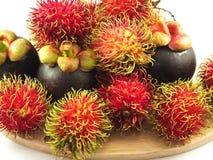 Fruit tropical Asie de mangoustan de ramboutan photographie stock libre de droits