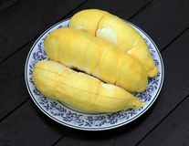 Fruit, tropical, Durian, King of tropical fruit. Durian, King of tropical fruit, Close up of peeled durian stock image