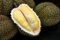 Fruit, tropical, Durian, King of tropical fruit. Durian, King of tropical fruit, Close up of peeled durian stock photos