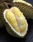 Fruit, tropical, Durian, King of tropical fruit. Durian, King of tropical fruit, Close up of peeled durian royalty free stock photo