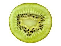 Fruit tropical Kiwi découpé en tranches Kiwi Durée toujours 1 Kiwi juteux sur le fond blanc Photos stock