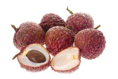 Fruit tropical - lychees Images stock