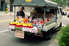 Fruit Truck Seoul, South Korea Royalty Free Stock Photography