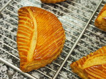 Fruit turnover pastry, marble surface Royalty Free Stock Photos