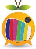 Fruit TV logo. Illustration art of a Fruit TV logo with isolated background Stock Photo