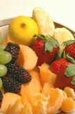 Fruit Variety Cantaloupe Strawberry Raspberry Stock Photo