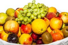 Fruit variety  isolated on white. Stock Images