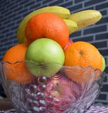 Fruit in a vase. Healthy royalty free stock photos