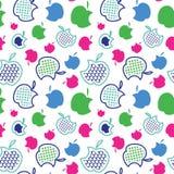 Fruit vastgesteld patroon, de achtergrond van het aardfruit stock afbeeldingen