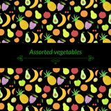 Fruit vector background Royalty Free Stock Image