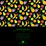Fruit vector background Royalty Free Stock Photo