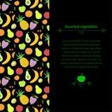 Fruit vector background Stock Image