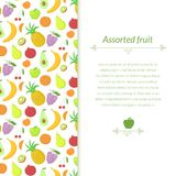 Fruit vector background Stock Images
