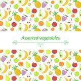Fruit vector background Stock Photos