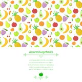 Fruit vector background Stock Photo