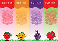 Fruit Vector brochure Royalty Free Stock Image