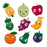 Fruit vector collection design. Food vector collection design Vector Illustration