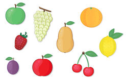 Fruit vector illustrations Royalty Free Stock Photography