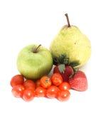 Fruit and veg. Isolated fruit and veg Stock Photo