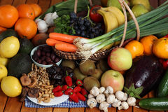 Fruit and veg arrangement Royalty Free Stock Photos