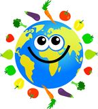 Fruit and veg globe Stock Images