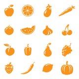 Fruit & Veg Icons Stock Image